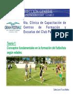 Conceptos Fundamentales en La Formación Del Futbolista