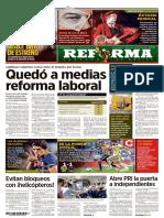 Reforma Laboral Quedo a Medias Periodico Reforma Nov 2015