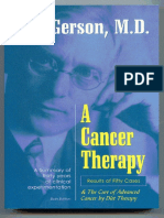 Dr. Max Gerson — a Cancer Therapy - Results of Fifty Cases