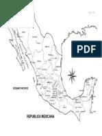 Mapa de Mexico Con Div Pol