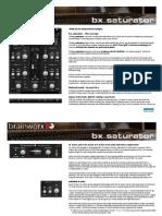 Bx Saturator Manual