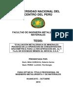 Tesis - Evaluación Metalúrgica de Minerales Pesados en La Operación de Concentración Gravimétrica