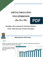 Aula 8 Produção do zinco, estanho e chumbo.pdf