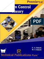 Modern Control Theory by Bakhshi