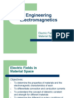 Electric Fields in Material Space