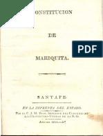 Constitucion Mariquita 1815