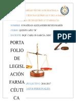 Portafolio de Legislacion Farmaceutica
