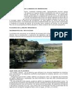 Los Placeres en Las Llanuras de Inundacion de Prospeccion