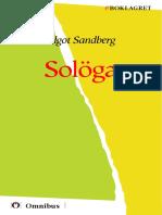 Algot Sandberg - Solöga [ Barn ] [1a Tryckta Utgåva 1909, Senaste Tryckta Utgåva 1944, 347 s. ]