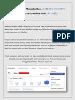 HOT Cara Ampuh Menargetkan Iklan FB Ads