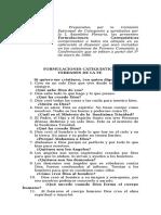 Formulas Catequisticas