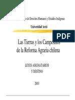 ARCIS. (2003) Las Tierras y Los Campesinos de La Reforma Agraria Chilena -(DOC)