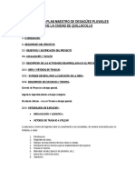 Proyecto Plan Maestro de Desagües Pluviales