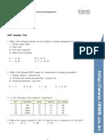 CPIM DSP Sample Test