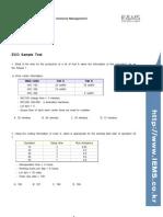 CPIM ECO Sample Test
