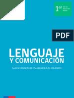 Guiones didácticos Lenguaje Primero Medio