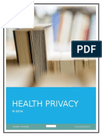 Health Privacy in India by manan chhabra