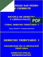CLASE N° 6 SUJETOS,EXIGIBILIDAD Y EXTINCION DE LA OBLIGACION TRIBUTARIA