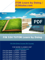 FIN 534 TUTOR Learn by Doing - Fin534tutor.com