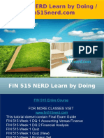 FIN 515 NERD Learn by Doing - Fin515nerd.com