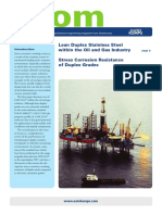 Lean Duplex Stainless Steel Within the Oil and Gas Industry-Acom