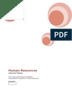 Human Resources Testing