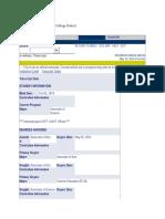academic transcript html