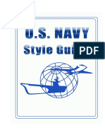 U.S. Navy Style Guide
