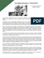 Guerrilla de Ñancahuazú y Teoponte 2016 - 6to Sec. c