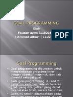 Goal Programing