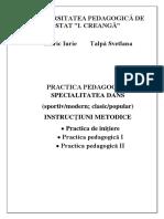 Cibric, Iu.;Talpa, S. - Practica Pedagogica, Specialitatea Dans. 2015