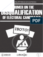 Primer on the Disqualification of Electoral Candidates