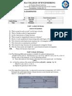 Question Paper-1 -FEA Model Exam