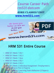 HRM 531 Course Career Path Begins Hrm531dotcom