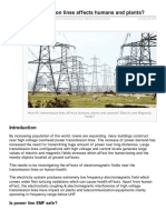 How HV Transmission Lines Affects Humans and Plants