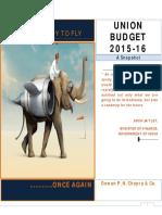 Union Budget 2015 16 a Snapshot