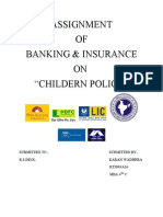 comparison of childern insurance policy of various companies