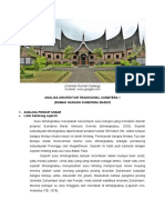 Arsitektur Tradisional Sumatera 1