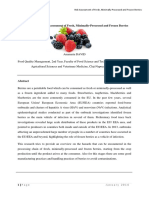 Overview of the Risk Assessment of Berries
