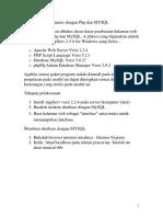 Halaman WEB Dinamis Dengan Php Dan MYSQL
