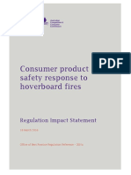 hoverboards - interim ban - regulation impact statement