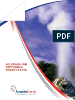 Ansaldo Solution for Geothermal Power Plants