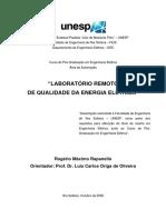 Laboratório Remoto de Qualidade de Energia - Rogerio Rapanello