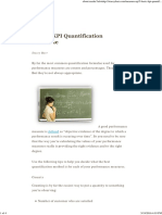 5 Basic KPI Quantification Formulae