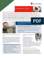 Millennium Development Goal #4 - Reduce Child Mortality, September 2005