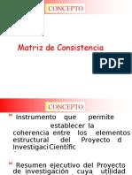 Resumen - Matriz de Consistencia