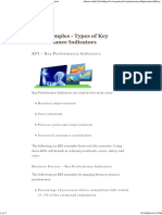 KPI Examples - Types of Key Performance Indicators