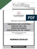 2016 Contraloria Directiv 011-2016-Cgg- Prod Prest Adic Obra