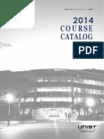 2014 Course Catalog