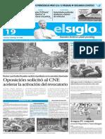 Edicion Impresa Elsiglo 19-05-2016